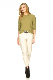 STUDIO AR BY ARMA |  Leather chino pants Nessa | natural  | Picture 2