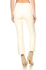 STUDIO AR BY ARMA |  Stretch leather kick flare pants Eva | natural  | Picture 6