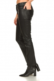 STUDIO AR BY ARMA |  Stretch leather kick flare pants Eva | black  | Picture 5