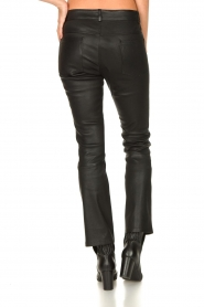 STUDIO AR BY ARMA |  Stretch leather kick flare pants Eva | black  | Picture 7