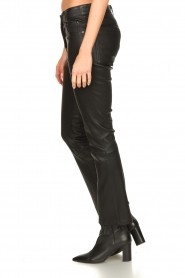 STUDIO AR BY ARMA |  Stretch leather kick flare pants Eva | black  | Picture 6