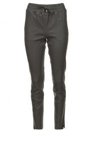 STUDIO AR BY ARMA |  Lamb leather stretch jogger Naomi | grey  | Picture 1