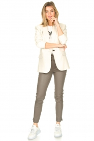 STUDIO AR BY ARMA    Lamb leather stretch jogger Naomi   grey    Picture 2