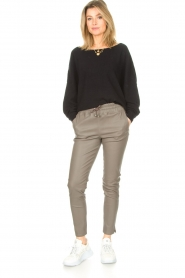 STUDIO AR BY ARMA    Lamb leather stretch jogger Naomi   grey    Picture 3