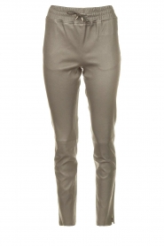 STUDIO AR BY ARMA |  Lamb leather stretch jogger Naomi | grey