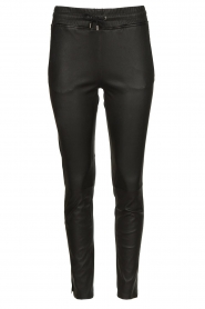 STUDIO AR BY ARMA |  Lamb leather stretch jogger Naomi | black  | Picture 1