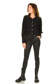 STUDIO AR BY ARMA |  Lamb leather stretch jogger Naomi | black  | Picture 3