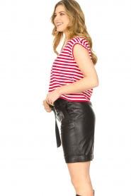 STUDIO AR BY ARMA |  Lamb leather paperbag short Rosy | black  | Picture 5