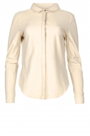 STUDIO AR BY ARMA |  Lamb leather blouse Dita | natural  | Picture 1