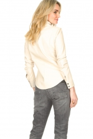 STUDIO AR BY ARMA |  Lamb leather blouse Dita | natural  | Picture 9