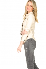 STUDIO AR BY ARMA |  Lamb leather blouse Dita | natural  | Picture 8