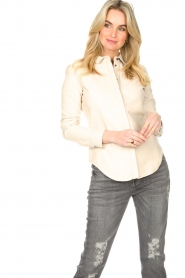 STUDIO AR BY ARMA |  Lamb leather blouse Dita | natural  | Picture 2