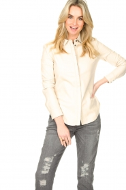 STUDIO AR BY ARMA |  Lamb leather blouse Dita | natural  | Picture 5