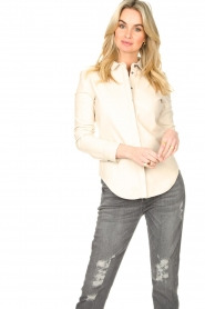 STUDIO AR BY ARMA |  Lamb leather blouse Dita | natural  | Picture 3