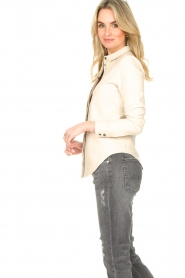 STUDIO AR BY ARMA |  Lamb leather blouse Dita | natural  | Picture 6