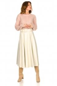 STUDIO AR BY ARMA |  Lamb leather midi skirt Romee | naturel  | Picture 3