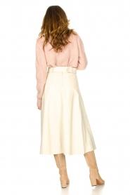STUDIO AR BY ARMA |  Lamb leather midi skirt Romee | naturel  | Picture 5