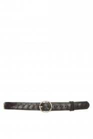 The Kaia |  Leather belt Ell | black  | Picture 1