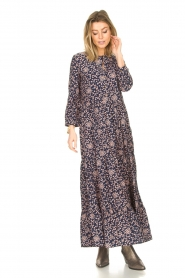 Lolly's Laundry |  Floral maxi dress Nee | blue  | Picture 4