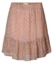 Lolly's Laundry |  Printed ruffle skirt Alexa | pink  | Picture 1