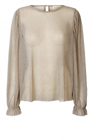 Lolly's Laundry |  See-through top with lurex Bar | gold  | Picture 1
