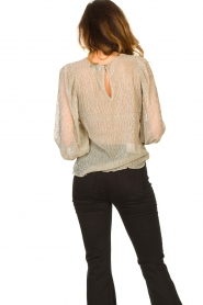 Lolly's Laundry |  See-through top with lurex Bar | gold  | Picture 7