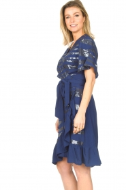 Lolly's Laundry |  Wrap dress with sequins Anka | blue  | Picture 6