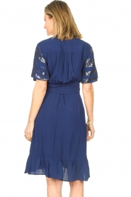 Lolly's Laundry |  Wrap dress with sequins Anka | blue  | Picture 7