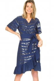 Lolly's Laundry |  Wrap dress with sequins Anka | blue  | Picture 2