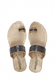 Laidback London |  Leather flip flop Trent | grey  | Picture 1
