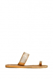 Laidback London |  Leather flip flop Trent | white  | Picture 3