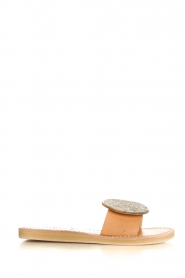 Laidback London |  Leather plateau flip flop Remi | silver  | Picture 3
