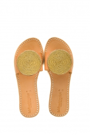 Laidback London |  Leather plateau flip flop Remi | gold  | Picture 1