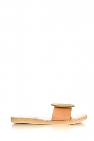Laidback London |  Leather plateau flip flop Remi | gold  | Picture 2