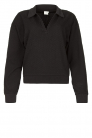 Lune Active |  Cotton sweater Camilla | black  | Picture 1