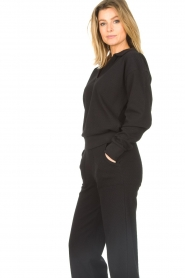 Lune Active |  Cotton sweater Camilla | black  | Picture 5