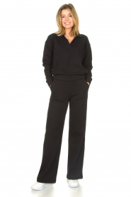 Lune Active |  Cotton sweater Camilla | black  | Picture 3