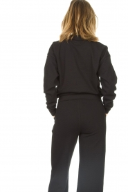 Lune Active |  Cotton sweater Camilla | black  | Picture 6