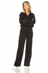 Lune Active |  Flared broek Camilla | black  | Picture 2