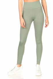 Lune Active |  Rib leggings Luna | green  | Picture 4