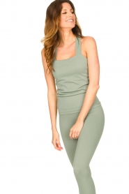 Lune Active |  Bandeau top Pique | green  | Picture 5