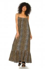 Notes Du Nord |  Maxi dress with halterneck Taylor | black  | Picture 3