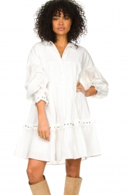 Notes Du Nord |  Broderie dress Tenna | white  | Picture 2