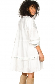 Notes Du Nord |  Broderie dress Tenna | white  | Picture 5