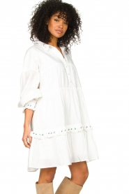 Notes Du Nord |  Broderie dress Tenna | white  | Picture 4