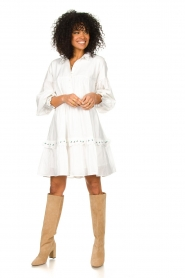 Notes Du Nord |  Broderie dress Tenna | white  | Picture 3