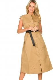 Notes Du Nord |  Midi safari dress Trina | beige  | Picture 4