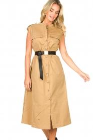 Notes Du Nord |  Midi safari dress Trina | beige  | Picture 2