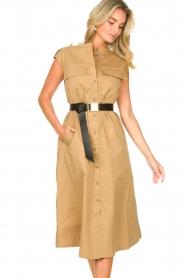 Notes Du Nord |  Midi safari dress Trina | beige  | Picture 8