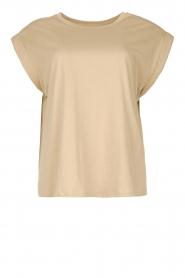 Notes Du Nord |  Cotton basic T-shirt Porter | beige  | Picture 1